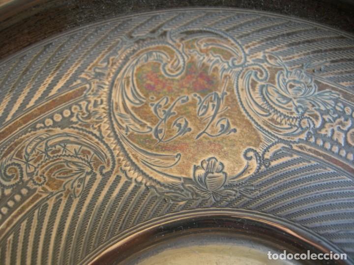 Antigüedades: Taza de plata con plato y cuchara - Foto 9 - 155630942