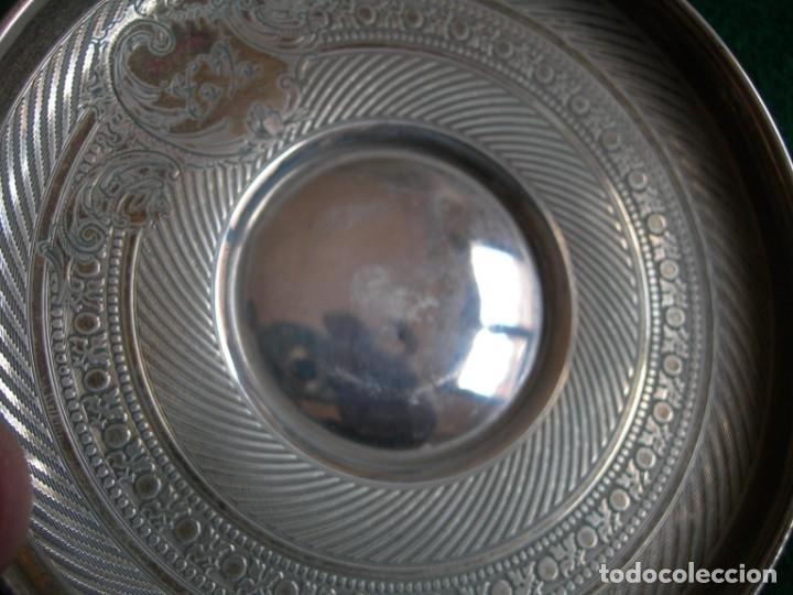 Antigüedades: Taza de plata con plato y cuchara - Foto 11 - 155630942