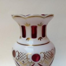 Antigüedades: JARRON BOHEMIA-OPALINA-. Lote 155623014