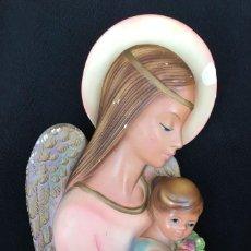 Antigüedades: ANGEL DE LA GUARDA Y NIÑA, ARTES CAPERO, AÑOS 60. Lote 155642490