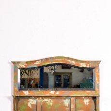 Antigüedades: ESPEJO ANTIGUO RESTAURADO LOIR. Lote 155643710