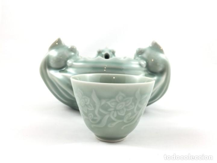 Antigüedades: FIGURA PORCELANA CELADON CHINA - Foto 7 - 155654666
