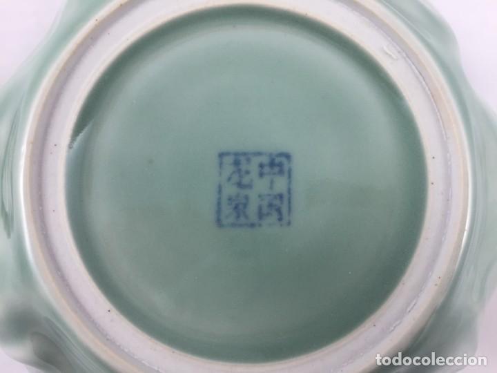 Antigüedades: FIGURA PORCELANA CELADON CHINA - Foto 14 - 155654666