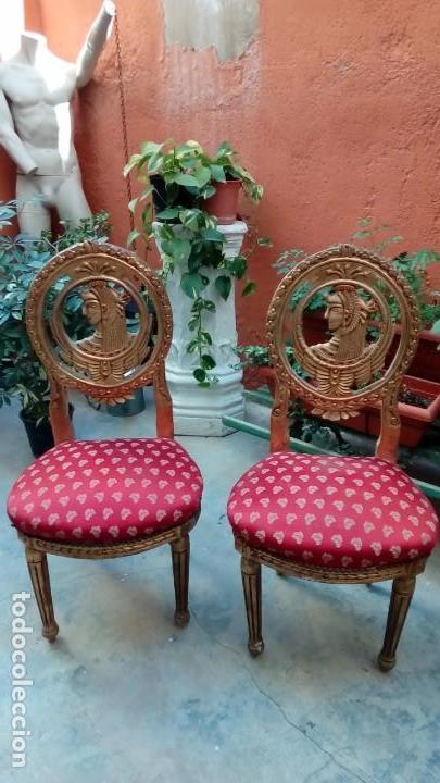 PAREJA DE SILLAS SS XIX (Antigüedades - Muebles Antiguos - Sillas Antiguas)