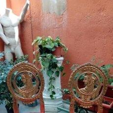 Antigüedades: PAREJA DE SILLAS SS XIX. Lote 155656010