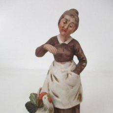 Antigüedades: FIGURA DE ABUELA - PORCELANA DE BISCUIT, POLICROMADA - 15 CM ALTURA - PRINCIPIOS S. XX. Lote 155662074