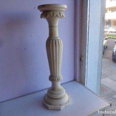 Antigüedades: MUY ANTIGUA, PRINCIPIOS 1900 Y BONITA COLUMNA PEANA DE MARMOL MACIZO, COMPLETA Y EN BUEN ESTADO, GRA. Lote 155667682