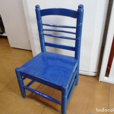 Antigüedades: SILLA DE MADERA ANTIGUA . Lote 155668522