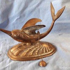 Antigüedades: FIGURA DE DELFÍN ALADO. VER DESCRIPCIÓN.. Lote 155694930
