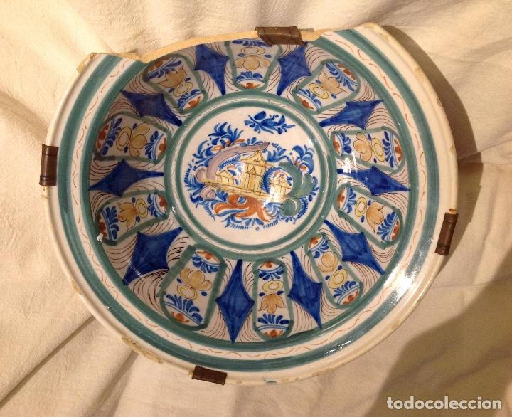 Antigüedades: Ribella fonda en ceràmica d'Onda o Manises, s. XIX - Foto 2 - 155697450