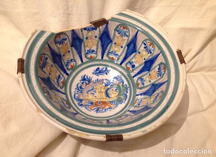 Antigüedades: Ribella fonda en ceràmica d'Onda o Manises, s. XIX - Foto 3 - 155697450