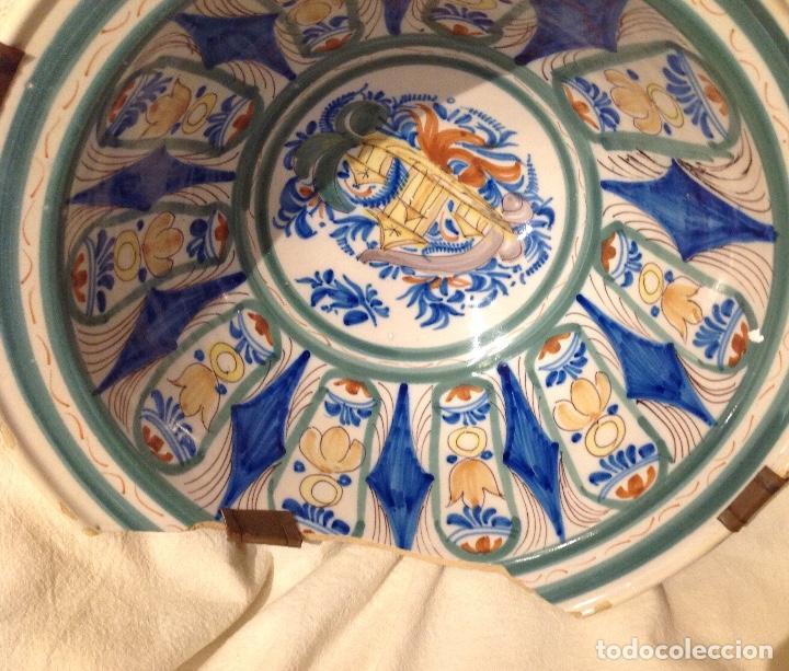 Antigüedades: Ribella fonda en ceràmica d'Onda o Manises, s. XIX - Foto 5 - 155697450