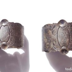 Antigüedades: PAREJA DE SERVILLETEROS ANTIGUOS. Lote 155697830