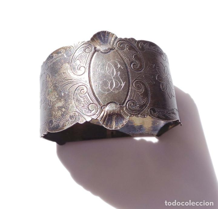 Antigüedades: PAREJA DE SERVILLETEROS ANTIGUOS - Foto 3 - 155697830