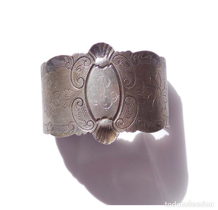Antigüedades: PAREJA DE SERVILLETEROS ANTIGUOS - Foto 11 - 155697830