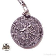 Antigüedades: LLAVERO DE PLATA. JUEGO DE PELOTA QUETZALCOATL. MEXICO. Lote 155699058
