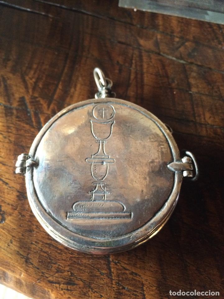 Antigüedades: HOSTIARIO DE PLATA ESPAÑOLA SIGLO XVII - Foto 2 - 155699722