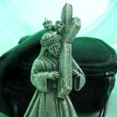 Antigüedades: IMAGEN DE JESUS NAZARENO EN METAL PLATEADO. Lote 155701290