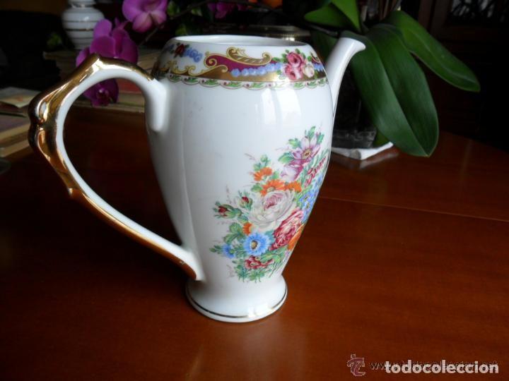 Antigüedades: CAFETERA DE PORCELANA DE LIMOGES ANTIGUA - Foto 5 - 155707842