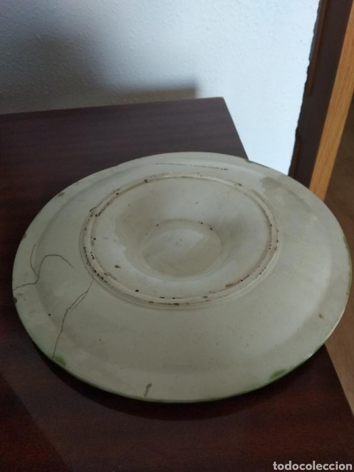Antigüedades: Muy antiguo plato para aperitivo. Cerámica francesa. J. Charlionais. L. Pourailly. 25 cms ∅ - Foto 4 - 155732709
