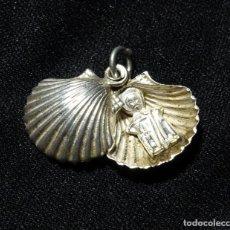 Antigüedades: MEDALLA PLATA CONTRASTE, RELICARIO, SANTIAGO, CRUZ ORDEN. Lote 155735690