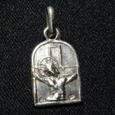 Antigüedades: MEDALLA PLATA CONTRASTE. CRISTO DE BALAGUER. Lote 155735930