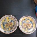 Antigüedades: TRIANA, PAREJA DE PLATOS SIGLO XIX. Lote 155744730