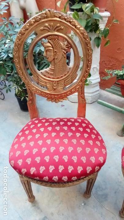 Antigüedades: pareja de sillas SS XIX - Foto 2 - 155656010