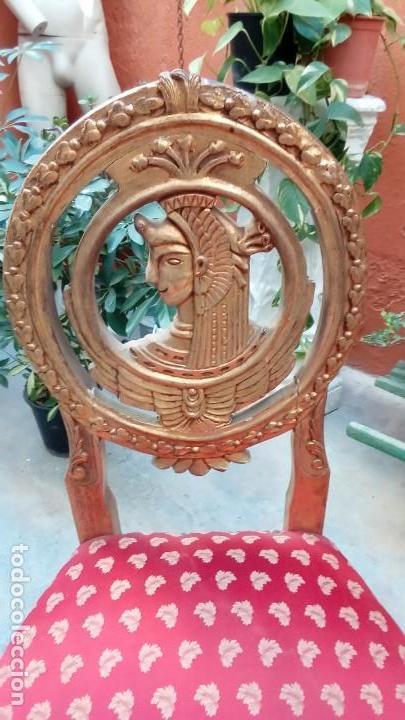 Antigüedades: pareja de sillas SS XIX - Foto 4 - 155656010