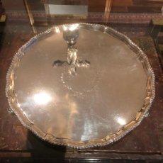 Antigüedades: SALVILLA INGLESA DE PLATA SIGLO XVIII. Lote 155748198