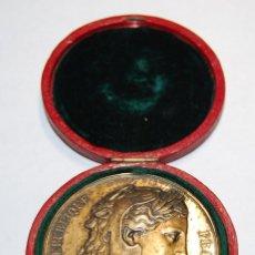 Antigüedades: ESPECTACULAR MEDALLA DE PLATA MACIZA DEL SENAT DE FRANCIA DEL AÑO 1876.PIEZA DE LUJO.. Lote 155749262