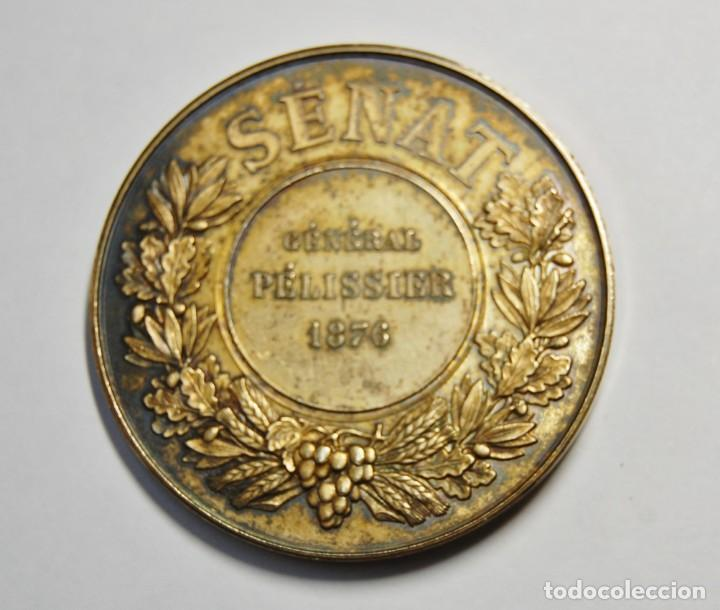 Antigüedades: ESPECTACULAR MEDALLA DE PLATA MACIZA DEL SENAT DE FRANCIA DEL AÑO 1876.PIEZA DE LUJO. - Foto 6 - 155749262