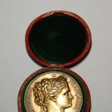 Antigüedades: MEDALLA DE PLATA MACIZA DEL SENAT DE FRANCIA DEL AÑO 1882.PIEZA DE LUJO.. Lote 155754398