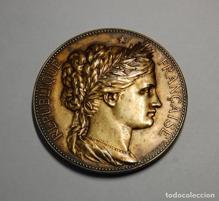 Antigüedades: MEDALLA DE PLATA MACIZA DEL SENAT DE FRANCIA DEL AÑO 1882.PIEZA DE LUJO. - Foto 2 - 155754398