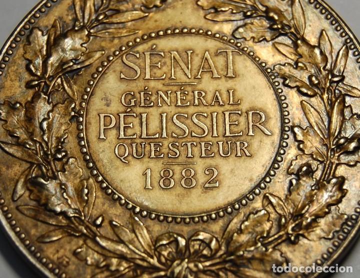 Antigüedades: MEDALLA DE PLATA MACIZA DEL SENAT DE FRANCIA DEL AÑO 1882.PIEZA DE LUJO. - Foto 5 - 155754398