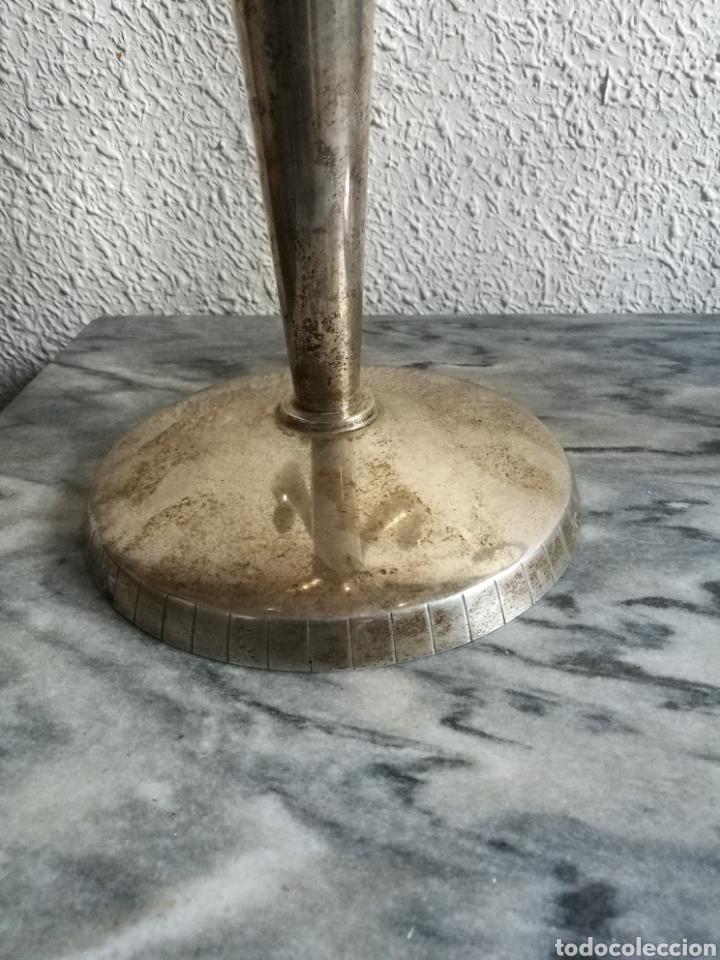 Antigüedades: Pareja de candelabros de plata - Foto 2 - 155755418