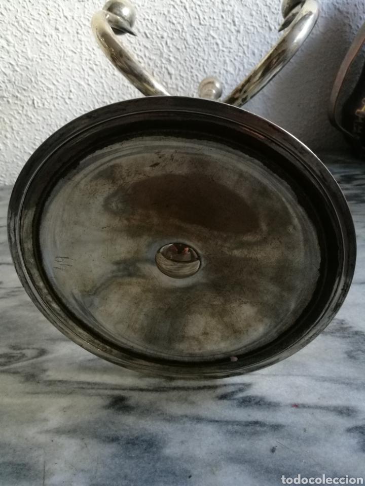 Antigüedades: Pareja de candelabros de plata - Foto 6 - 155755418