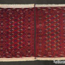 Antigüedades: PAREJA DE TEKKES TURCOMANOS MUY FINOS. Lote 154377686