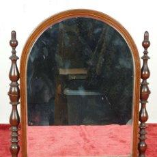 Antigüedades: ESPEJO DE TOCADOR EN MADERA DE PALISANDRO. SIGLO XIX. . Lote 155757378
