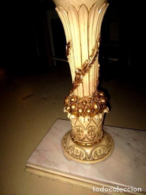 Antigüedades: Consola Vintage madera tallada y policromada - Foto 4 - 155764470