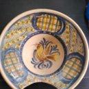 Antigüedades: TALAVERA ANTIGUA VACÍA DE BARBERO SIGLO XIX. Lote 155771898