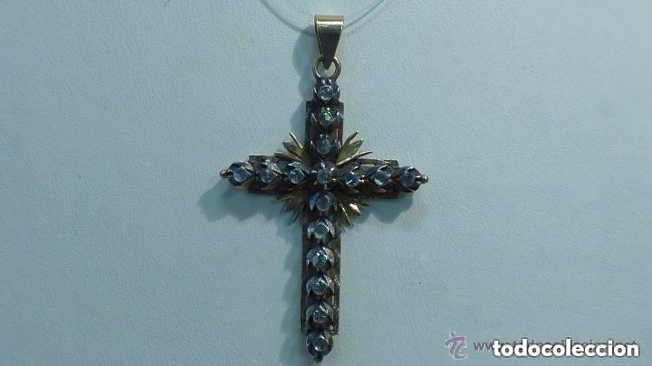 CRUZ ESTILO ISABELINO EN ORO 750MM Y PLATA DE 999MM DEL AÑO 1900 (Antigüedades - Religiosas - Cruces Antiguas)