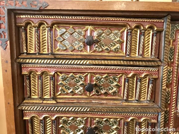 Antigüedades: Precioso bargueño Modelo siglo XVII - Foto 4 - 155778370