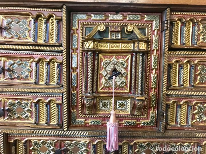 Antigüedades: Precioso bargueño Modelo siglo XVII - Foto 7 - 155778370