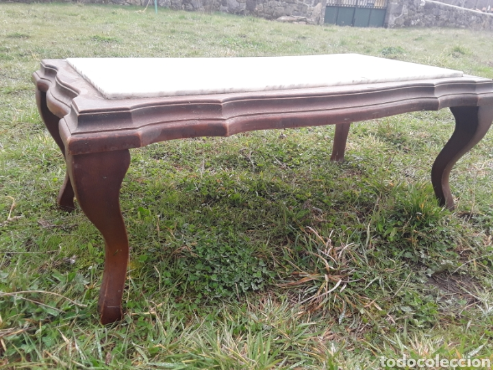 Antigüedades: Mesa de salon marmol - Foto 2 - 155780882