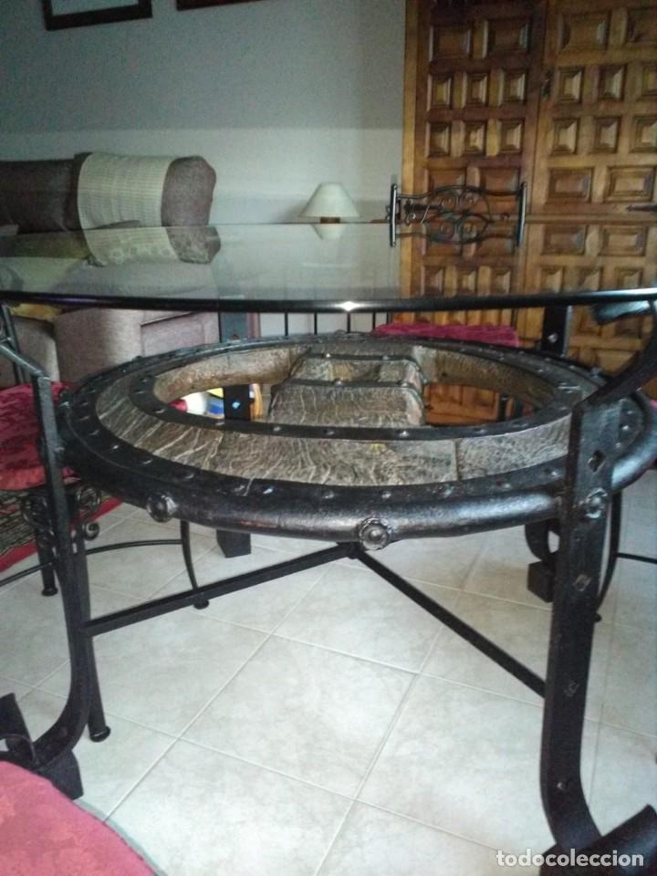 Antigüedades: mesa rueda de carro - Foto 4 - 155785130