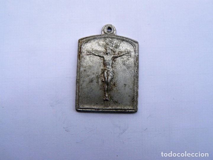 MEDALLA RELIGIOSA ANTIGUA SANTO CRISTO DE LA AGONIA DE LIMPIAS ALUMINIO (Antigüedades - Religiosas - Medallas Antiguas)