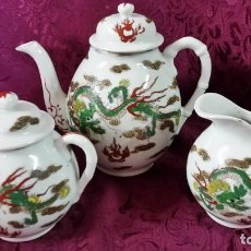 Antigüedades: JUEGO DE TÉ DE PORCELANA CHINA. Lote 155791290