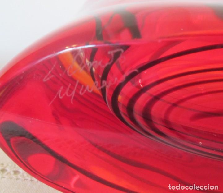 Antigüedades: Fantástico conjunto en cristal murano de tres piezas, firmadas por el artesano - Foto 4 - 155823062