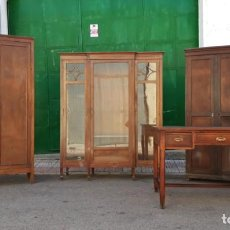 Antigüedades: DESPACHO ANTIGUO COMPLETO DE FÁBRICA IMPRENTA 1920. MUEBLE DE DESPACHO ANTIGUO ESTILO INDUSTRIAL.. Lote 155831170